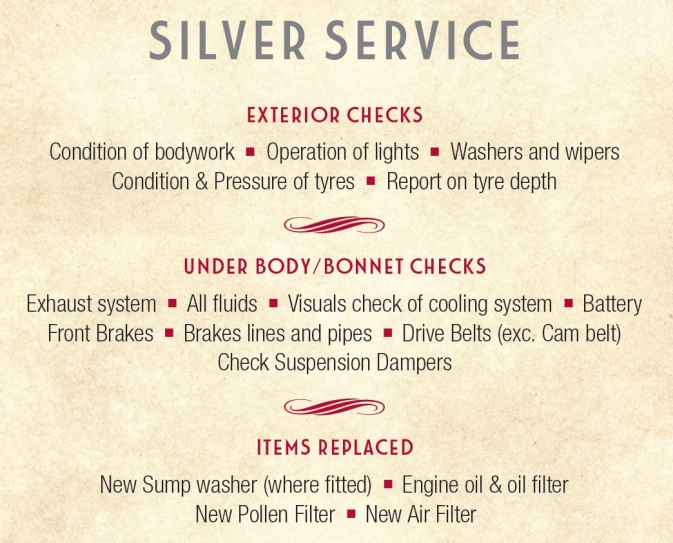 Silver Fixed Price Service
