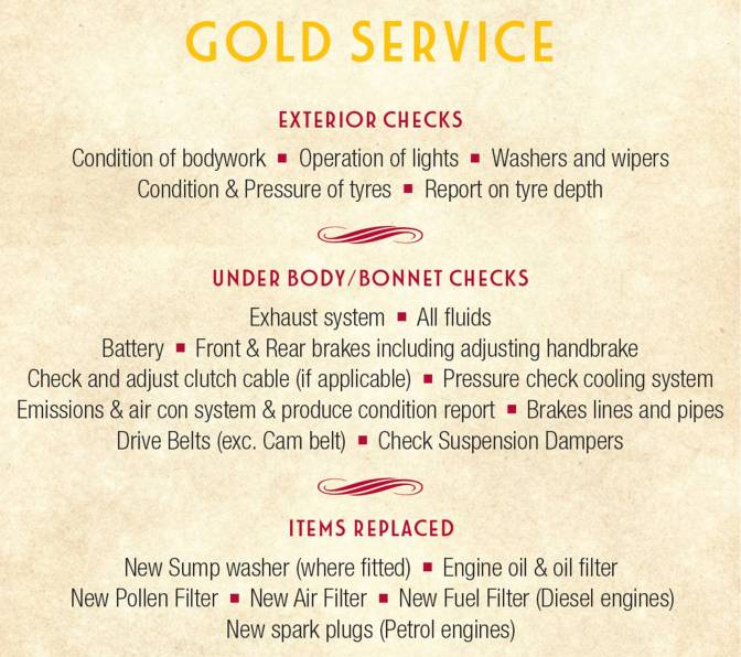 Gold Fixed Price Service
